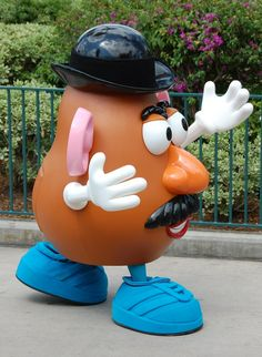 Disney World Retired Attractions - Mr. Potato Head in the Block Party Bash Parade at Disney's Hollywood Studios. This parade ran from March 14, 2008 – January 1, 2011.