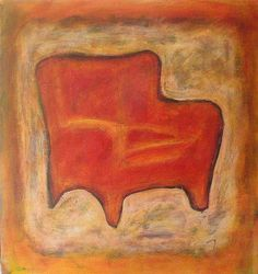 Red Club Chair, painting by Robert H. Ballard, www.rhballard.com