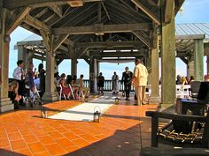 Beautiful Simple Ceremony Aisle --Destination Wedding at the Reach Resort in Key West with The Best Wedding DJ Ever! http://mbeventdjs.com