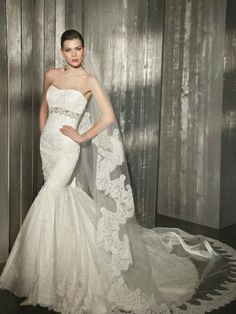 Most Beautiful Wedding Dresses | ... Romantic Wedding: The 8 most beautiful mermaid wedding dresses 2012