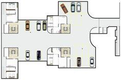 Condomínio Bauhaus,Planta Geral - Subsolo