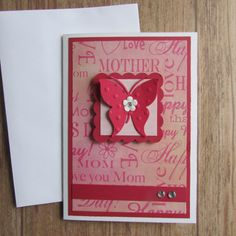 Mother's Day card-Greeting cardsbutterfly by HabitatHaven on Etsy