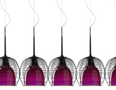 Really cool: cage suspension lamp