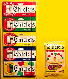 Oh yes I remember Chicklets & how my mom used them as bribery with my cousin Timmy, LOL.