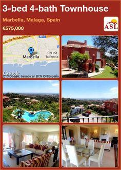 3-bed 4-bath Townhouse in Marbella, Malaga, Spain ►€575,000 #PropertyForSaleInSpain