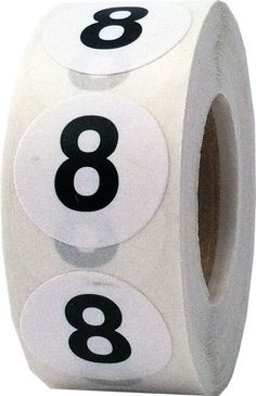 Number 8 Labels Inch Round Number Stickers by TheDotSpotLane Learning Tools, Kids Learning, Aesthetic Objects, Number Stickers, Number 8, Cool Pictures, Wallpaper, Scrap, My Favorite Things