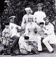 Grand Duke Konstantine Nikolaievich and his family