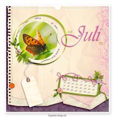 digital erstellter kalender im scrapbook-stil mit makroaufnahmen von schmetterlingen : monat juli : kleiner feuerfalter : lycaena phlaeas : goebie.blogspot.de : design work : goebie-design.de