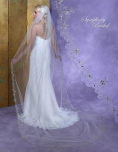 Bella Mera Bridal Boutique - Symphony Bridal Veil - Style 6154VL -Cathedral Embellished Veil, (http://www.bellamerabridal.com/symphony-bridal-veil-style-6154vl-cathedral-embellished-veil/)