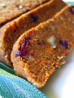 Foodie Friday - The Big Thanksgiving Episode - Raw Food Rehab  pumpkin spice bread  sweet potato chips  sweet cinnamon pecans  chutney  savory mushroom loaf