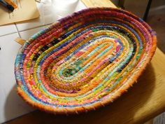 oval fiber coil bowl