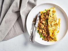 Nopea fajitas munakas Zucchini, Grains, Rice, Fajitas, Vegetables, Food, Vegetable Recipes, Eten, Veggie Food