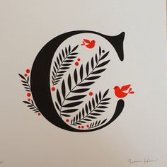 Beautiful incorporation of image with letter. Letterpress C by Jessica Hische