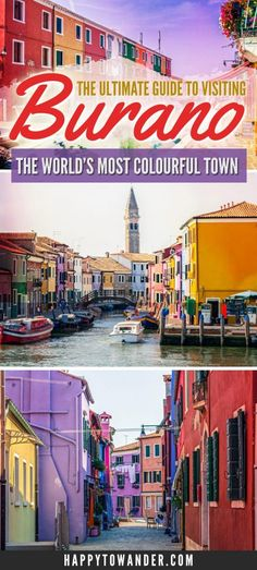 THE best guide for visiting Burano, Italy. This rainbow town is truly one of the prettiest, cutest and colourful places in the world. A must-see if you're visiting Italy! This guide tells you everything you need to know about Burano, like how to get there to/from Venice and what to do.