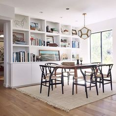 Who wouldn't wish for this dining room? Featuring the Wishbone Chair