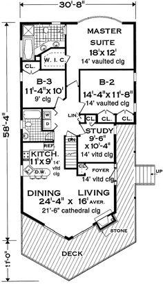 European Floor Plan - Main Floor Plan Plan #3-336