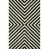 Found it at Wayfair Supply - Palm Springs Black/Ivory Indoor/Outdoor Rug