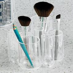 Great for knitting needles and crochet hooks too!  The Container Store > Tubo Countertop Organizer by Umbra®