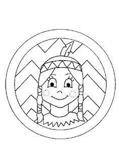 Portrait à colorier d'une jolie Indienne Indian Pow Wow, Red Indian, Art Activities For Kids, Crafts For Kids, Arts And Crafts, Coloring Sheets, Coloring Pages, Pow Wow Party, Indian Drawing