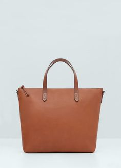 Faux-leather shopper bag | MANGO