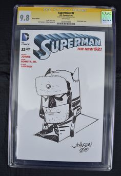 from $100.0 - Superman 32 Dc 2014 Nm/mt Cgc Ss 9.8 Dave Johnson Red Son #Batman Sketch Blank