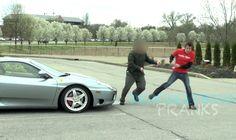 Attacked By Ferrari Owner - Pee Prank, via YouTube.
