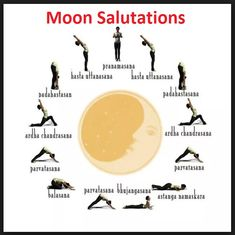 The Sacred Moon Salutation - Chandra Namaskar For those of you who are unfamiliar with yoga, the moon salutation, though not as popular as its counterpart Surya Namaskar, warms the body yet provides an overall cooling effect and is wonderful to. My Yoga, Yoga Flow, Yoga Meditation, Kundalini Yoga, Yoga Sequences, Yoga Poses, Yoga Fitness, Mudras, Mind Body Soul