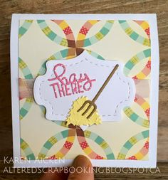 Altered Scrapbooking: Pink Barn Pop Stand Card