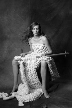 A story of extreme knits photographed by Paul Westlake/ Styling by Nathalie Agussol Hair