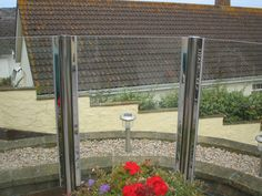 Post Channel Design, Stainless Steel and Glass Balconies, Metal Working, It Works, Channel, Iron, Stainless Steel, Outdoor Structures, Island, Glass