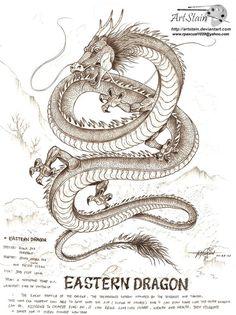 eastern dragon by artstain.devianta… on eastern dragon by artstain. Mythical Creatures Art, Mythological Creatures, Fantasy Creatures, Dragon Tattoo For Women, Dragon Tattoo Designs, Japanese Dragon, Japanese Art, Deviantart, Arrow Tattoo