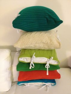 Sweater pillows  I like that these are more pillow covers so you can change it up for the seasons!