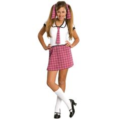 School Girl Tween Costume Description: She's off to Boarding School! You'll be at the Head of the Class with this smart costume! Sure to receive an A in Fa - June 15 2019 at Tween Costumes For Girls, Halloween Costumes For Girls, Girl Costumes, Costumes For Women, Outfits For Teens, Costume Ideas, Children Costumes, Halloween 2014, Costume Contest
