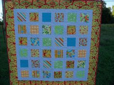 Summer Fresh Blends Quilt Lap Quilt Couch Throw by PerfectStitches