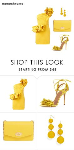 """Untitled #1821"" by nadia-n-pow on Polyvore featuring Dsquared2, Aquazzura, Mulberry, BaubleBar and monochrome"