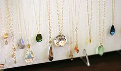 A selection of handmade necklaces Crystallized with Swarovski crystals