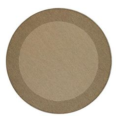 For the deck - Direct Home Textiles Simple Border Brown 8 ft. Brown Indoor/Outdoor Round Area Rug