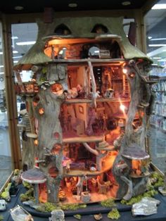 I would have to say my earliest inspiration for my dream home was Mona frangos' gnome house in the Missoula public library, MT. sadly upon finally finding the image I discovered that she had passed away some time ago, but I can tell you, it has inspired me always! Thank you Mona!