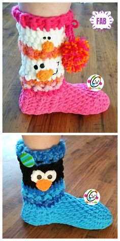 Crochet Snowman Boots Crochet Pattern Snowman Gift Sack Bag Free Crochet Pattern - Crochet Boots Pattern For Adults (Made with…Cosy And Stylish Slipper Boots Free Crochet Pattern Crochet Winter, Holiday Crochet, Crochet For Kids, Easy Crochet, Crochet Snowman, Christmas Crochet Patterns, Crochet Baby Booties, Crochet Slippers, Crochet Crafts