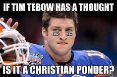 Tebow thinks about FSU #fsu