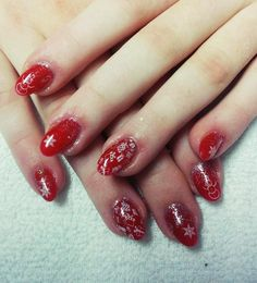 #nails #red #christmas #presents