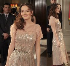 Gossip Girl 4x20 #BlairWaldorf #LeightonMeester Jenny Packham dress #JennyPackham