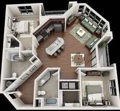 Your Guide to 4 bedroom apartments macon ga for your home haus Are You Making The 4 Bedroom Design Mistakes That Keep Decorators Up At Night? Sims House Plans, House Floor Plans, Apartment Floor Plans, Tiny Home Floor Plans, Small Apartment Plans, Minecraft House Plans, Simple Floor Plans, Sims 4 House Building, Small House Plans