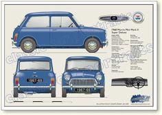 Morris Mini MkII 1967-69 Super De Luxe 1000cc<3
