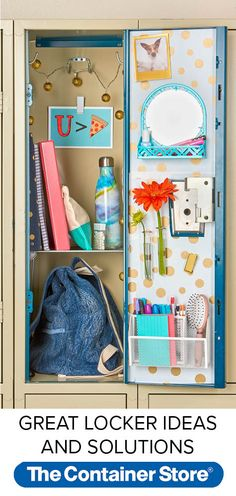 Create a first-day-fabulous locker with these locker organization favorites. From locker shelves, to magnetic organizers to mini mirrors, we've got you covered for a fresh new year.