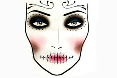 video tut for minimal sugar skull makeup - look hot and still like you - could be a better option for getting in to the bar lol