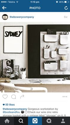 LOVE the quirky clay look shelving