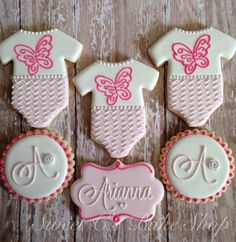 Butterfly Baby Shower Cookies by SweetCBakeShop on Etsy, $42.00