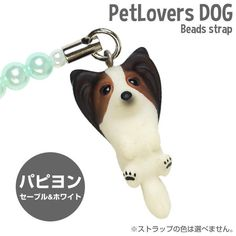 $9.99 - Pet Lovers Hand Made Papillon Dog Bead Cell Phone Strap Charm (Face Up 2) #ebay #Electronics