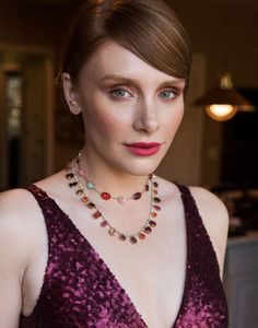 Bryce Dallas Howard Getting Ready For The 2017 SAG Awards Show: From her red sequined Dress The Population gown, to Adir Abergel's newest hair accessories perfectly placed in her sleek updo, to Yoshimoto Bua's fresh-faced, bright makeup look, the Black Mirror actress headed to the red carpet looking like a living piece of art.   coveteur.com